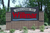 Welcome to Willmar sign