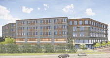 artist's rendering of the Van White memorial blvd building
