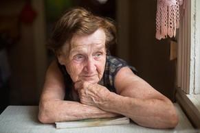 Senior woman alone