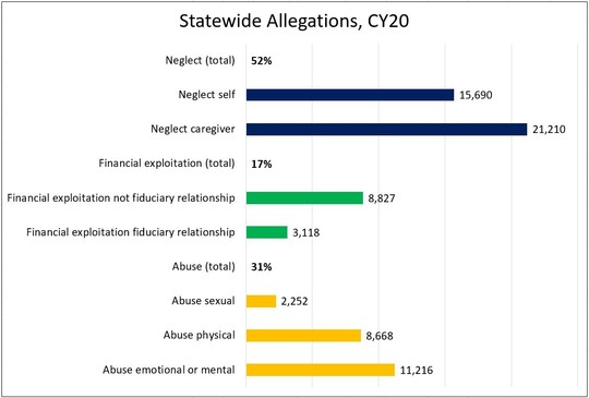 Statewide allegations chart for CY2020