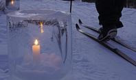 Candlelight ski ice candle