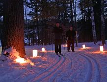 Candlelight skiers