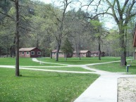 group center cabins at Whitewater State Park