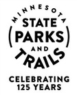 125th anniversary logo for mn state parks