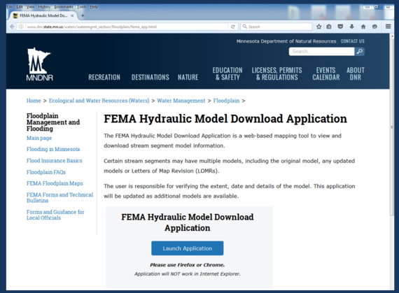 Clip of Hydraulics model site