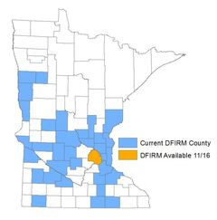 DFIRM counties in MN
