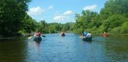 canoes on water trail