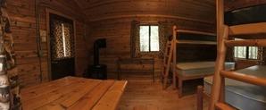 inside camper cabin