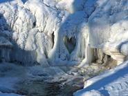 heart shape in ice