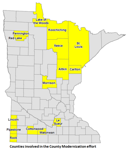 County Modernization counties