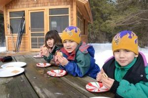 Kids and camper cabin