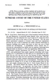 U.S. supreme court decision 1st page