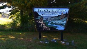Whitewater state park entrance sign