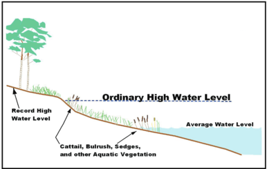 Graphic showing the OHW elevation