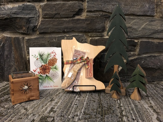 wooden gifts collage