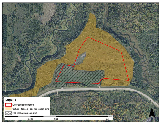 Map of deer fencing