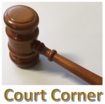 "Gavel with ""Court Corner"" title"