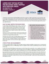 Newly Mapped FEMA information sheet image