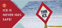 danger thin ice banner