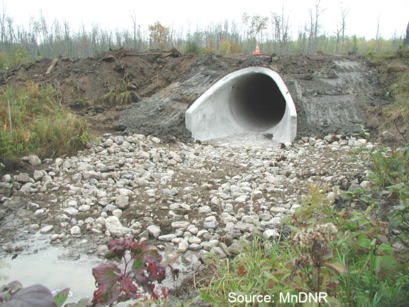 Typical culvert