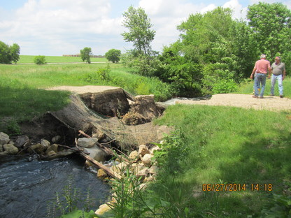 Photo of erosion at Gonyea Culvert