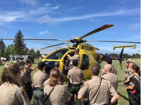 cadets learn about helicopters
