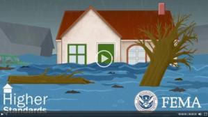 Screen shot showing FEMA Higher Standards video