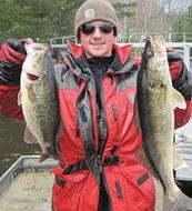 man with walleye
