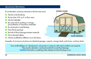 Accessory Structure page with summary of wet floodproofing standards