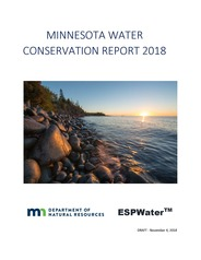 Cover of Minnesota Water Conservation Report (draft)