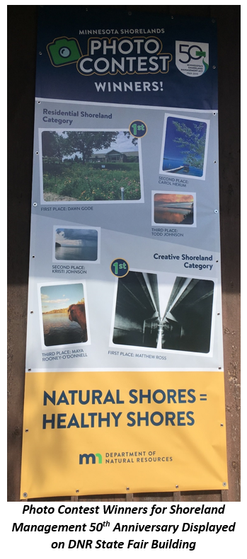 Banner showing winning photos for 50th Anniversary of Shoreland Management in MN