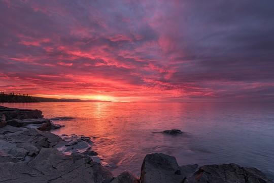 Lake Superior Water Trail Sunset - Travis Novitsky