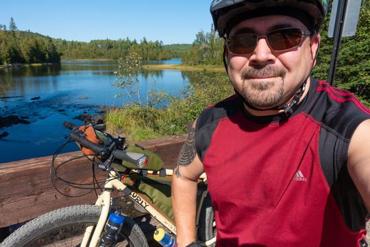 Travis Novitsky on his bike