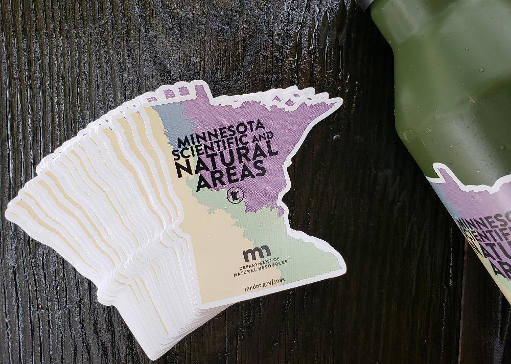 Minnesota shaped stickers