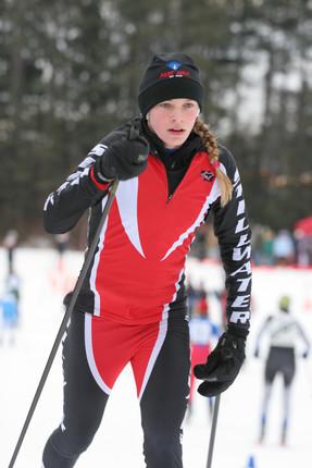 Jessie racing at William O'Brien