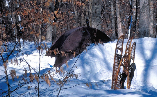 Snowshoes and camping at William O'Brien State Park