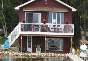 House on Shamineau Lake with water very close