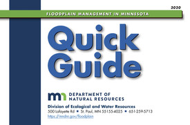 cover of 2020 Floodplain Management in Minnesota Quick Guide