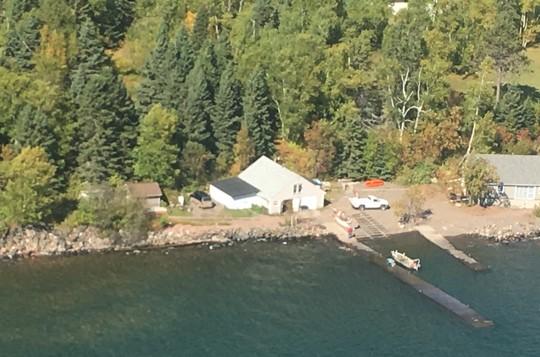 High water on Lake Superior - docks under water