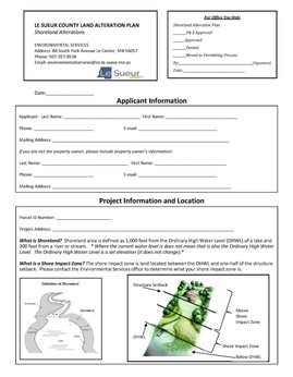 Le Sueur County Land Alteration Plan cover