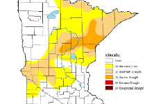 drought map of Minnesota