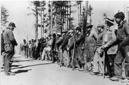 CCC Indian Division workers from Nett Lake Reservation