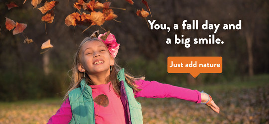 You, a fall day, and a big smile
