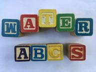 Blocks spelling Water ABCs
