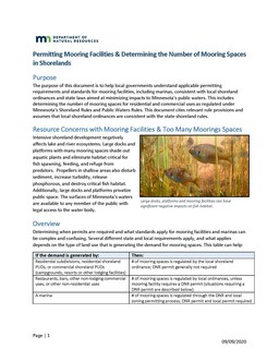 Cover of DNR's Mooring Guidance