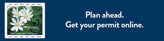 Plan ahead. Get your permit online.