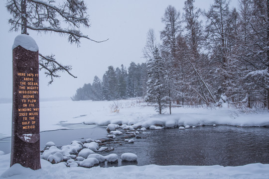 Headwaters of Mississippi in the winter