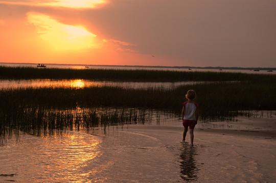 Sunset at Upper Red Lake beach