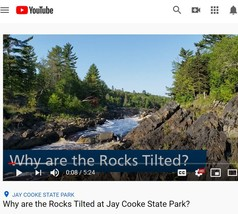 Image of YouTube video titled why are rocks tilted