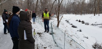 Coon Creek Watershed District giving tour of project work